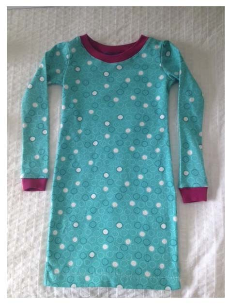 Organic cotton nigh gown for girls.
