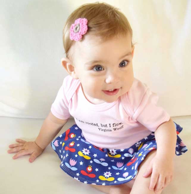 Baby Girl's Skirted Body Suit
