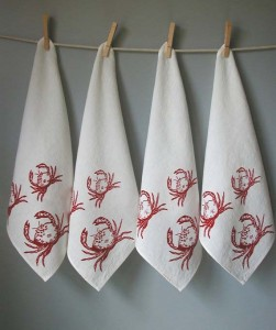 Madder Root Crab napkins