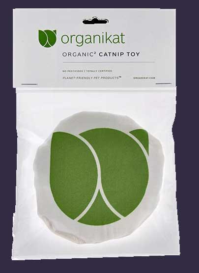 Organic catnip filled toy.
