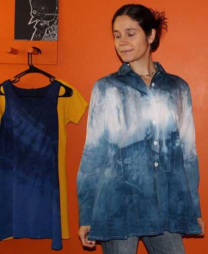 Vishuddha hand dyed women's blouse