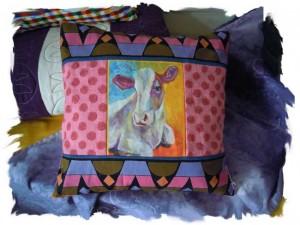 Cow Pillow, Susan Bashford Designs