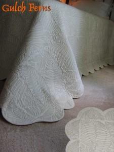 Gulch Ferns, queen size organic cotton quilt.